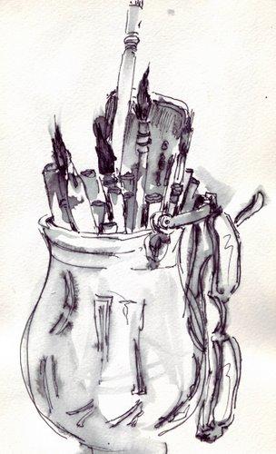 brush holder