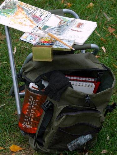 sketching bag and stool 3