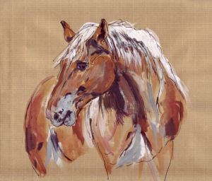horses sketch envelope