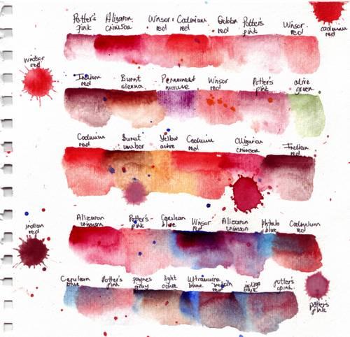 Colour palette red laves
