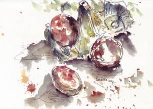 eggs in watercolour 2