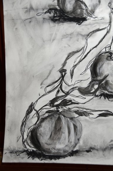 Clementines in charcoal 3264x4928-002