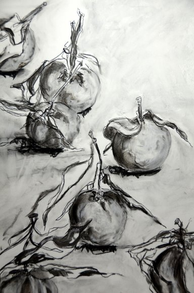 Clementines in charcoal 3264x4928