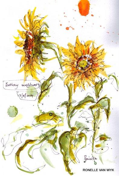 birthday sunflowers 1
