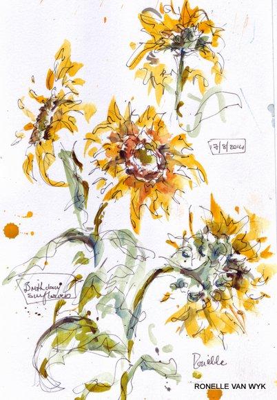 birthday sunflowers 2