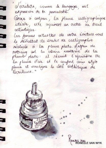 ink bottle artist pen