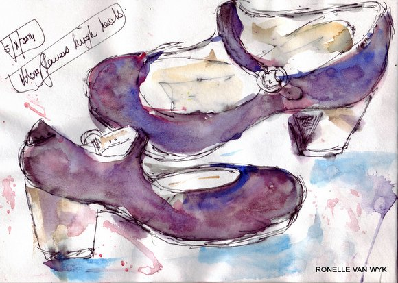 Ronelle's art- sketching-mary jane shoes..0001