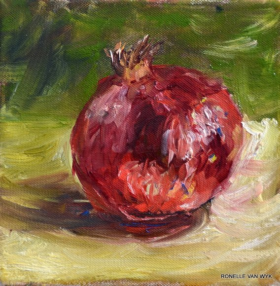 ronelles-art red pomegranate