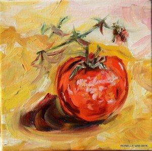 tomato on branch