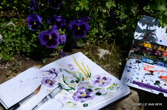 painting pansies