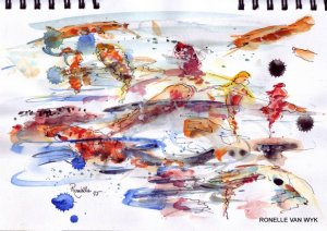 Ronelle van wyk- Koi fish in watercolor-001