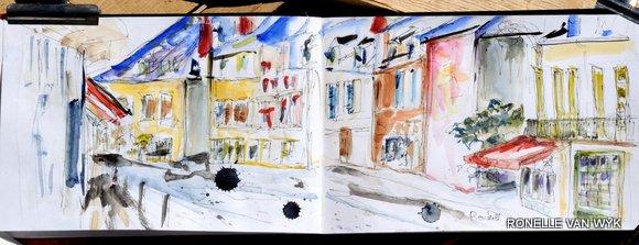 Streetscene from Cafe douceur