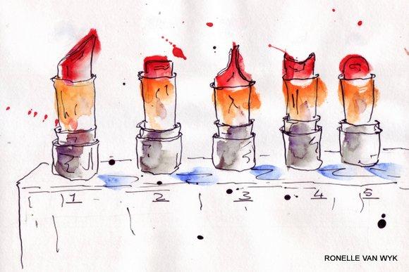 5 lipsticks