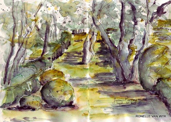 jardin Marqueyssac sketch
