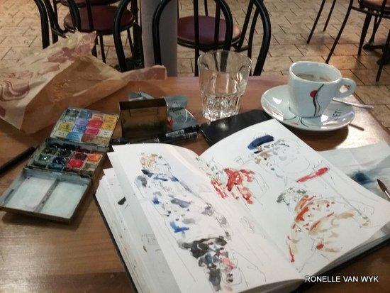Cketching at Cecile