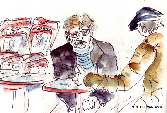 faces at the cafe