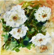 three-white-roses-and-a-dahlia