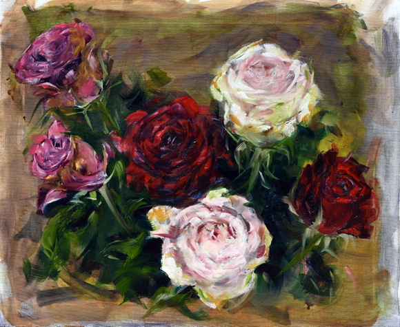 six-roses-in-oil