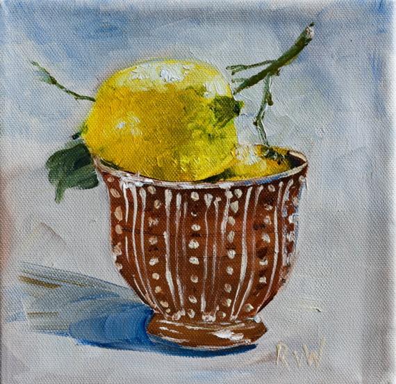 two lemons in bowl-2