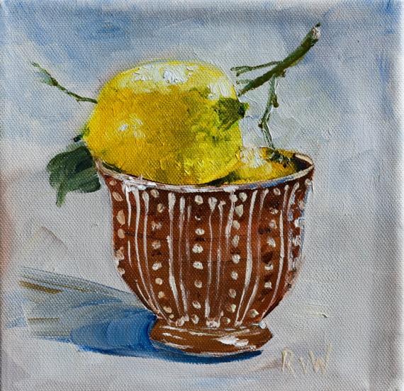 two lemons in bowl-2